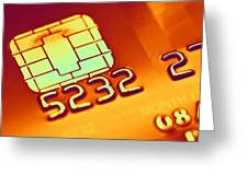 Credit Card Microchip, Computer Artwork Greeting Card by Pasieka