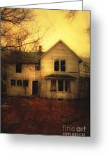 Creepy Abandoned House Greeting Card by Jill Battaglia
