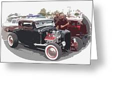 Custom Ford Coupe Greeting Card by Steve McKinzie