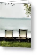 Deck Chairs Greeting Card by Joana Kruse