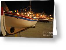 Decorated Fishing Boats Greeting Card by Gaspar Avila