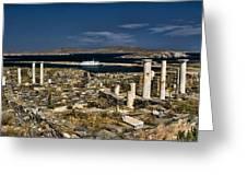 Delos Island Greeting Card by David Smith