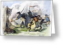 Destroying Villages, 1791 Greeting Card by Granger
