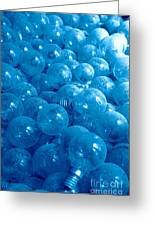 Dusty Light Bulbs Greeting Card by Gaspar Avila