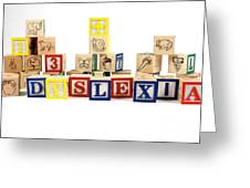 Dyslexia Greeting Card by Photo Researchers, Inc.