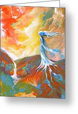 Earth Angel Greeting Card by Valerie Graniou-Cook