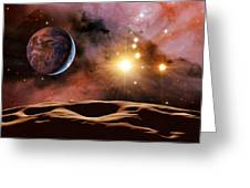 Earthlike Alien Planet, Artwork Greeting Card by Detlev Van Ravenswaay