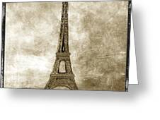Eiffel Tower. Paris Greeting Card by Bernard Jaubert