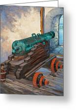 El Morro Cannon  Greeting Card by M J Weber