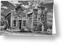 Elkhorn Ghost Town Public Halls - Montana Greeting Card by Daniel Hagerman