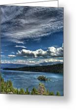 Emerald Bay Greeting Card by Carlos Quiroz