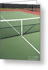 Empty Tennis Court Greeting Card by Thom Gourley/Flatbread Images, LLC