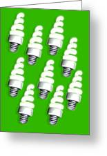 Energy-saving Light Bulbs, Artwork Greeting Card by Victor Habbick Visions