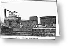 English Locomotive, 1825 Greeting Card by Granger