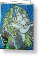 Fallen Angel Greeting Card by Robin Jeffcoate