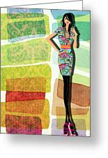 Fashion Illustration Greeting Card by Ramneek Narang