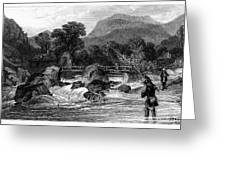 Fishing, 19th Century Greeting Card by Granger