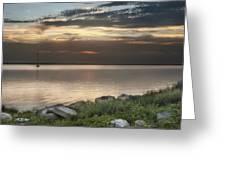 Florida Sunset Greeting Card by Cheryl Davis