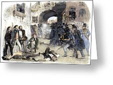 France: Paris Riot, 1851 Greeting Card by Granger