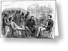 FREEDMENS BUREAU, 1866 Greeting Card by Granger