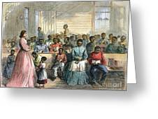FREEDMENS SCHOOL, 1866 Greeting Card by Granger