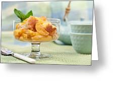 Freshly Baked Peach Cobbler Greeting Card by Lorraine Kourafas