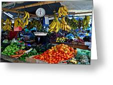 Fruit For Sale Greeting Card by Li Newton