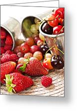 Fruits And Berries Greeting Card by Elena Elisseeva