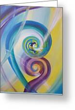 Fusion Greeting Card by Reina Cottier