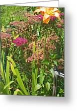 Garden Flowers Greeting Card by Thelma Harcum