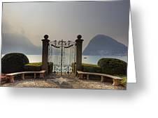 Gateway To The Lake Of Lugano Greeting Card by Joana Kruse