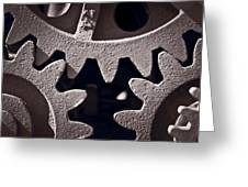 Gears Number 2 Greeting Card by Steve Gadomski
