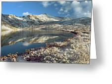 Geissler Mountain And Linkins Lake Greeting Card by Tim Fitzharris