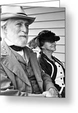 General Lee And Mary Custis Lee Greeting Card by Thomas R Fletcher