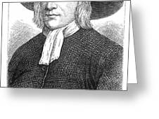 GEORGE FOX (1624-1691) Greeting Card by Granger