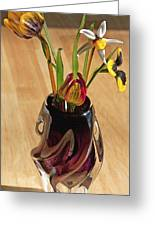 Glass Bouquet 1 Greeting Card by Steve Ohlsen