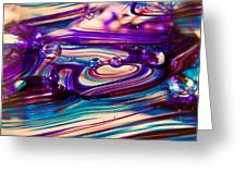 Glass Macro II Greeting Card by David Patterson