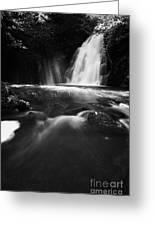 Gleno Or Glenoe Waterfall County Antrim Greeting Card by Joe Fox