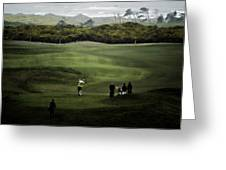 Golf At The Dunes Greeting Card by Dale Stillman