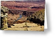 Grand Canyon Colorado River Greeting Card by  Bob and Nadine Johnston