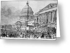 Grants Inauguration, 1873 Greeting Card by Granger