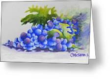 Grapes Greeting Card by Chrisann Ellis