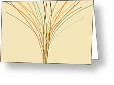 Graphic Tree Greeting Card by Setsiri Silapasuwanchai