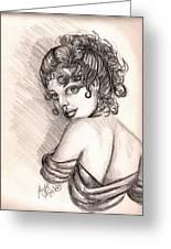 Greek Goddess Greeting Card by Scarlett Royal