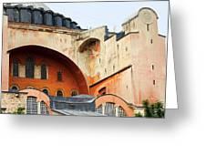 Hagia Sophia Byzantine Architecture Greeting Card by Artur Bogacki