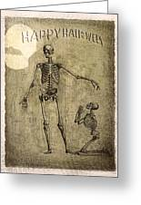 Happy Halloween Greeting Card by Jeff Burgess