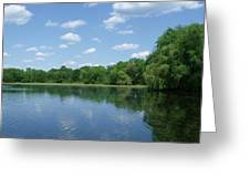 Harris Pond Greeting Card by Anna Villarreal Garbis