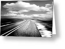 Highway Run Greeting Card by Scott Pellegrin