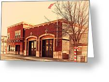 Historic Niles District In California Near Fremont . Niles Fire Station Number 2 . 7d10732 Greeting Card by Wingsdomain Art and Photography