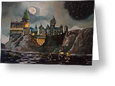 Hogwart's Castle Greeting Card by Tim Loughner
